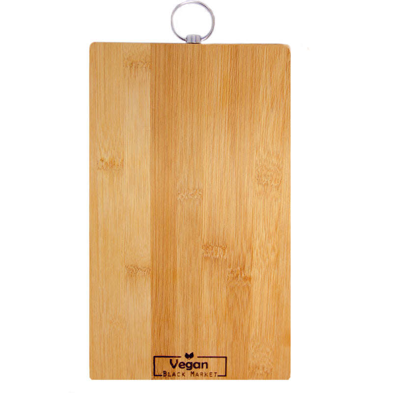 Vegan Black Market Bamboo Cutting Board 10in. x 6in.