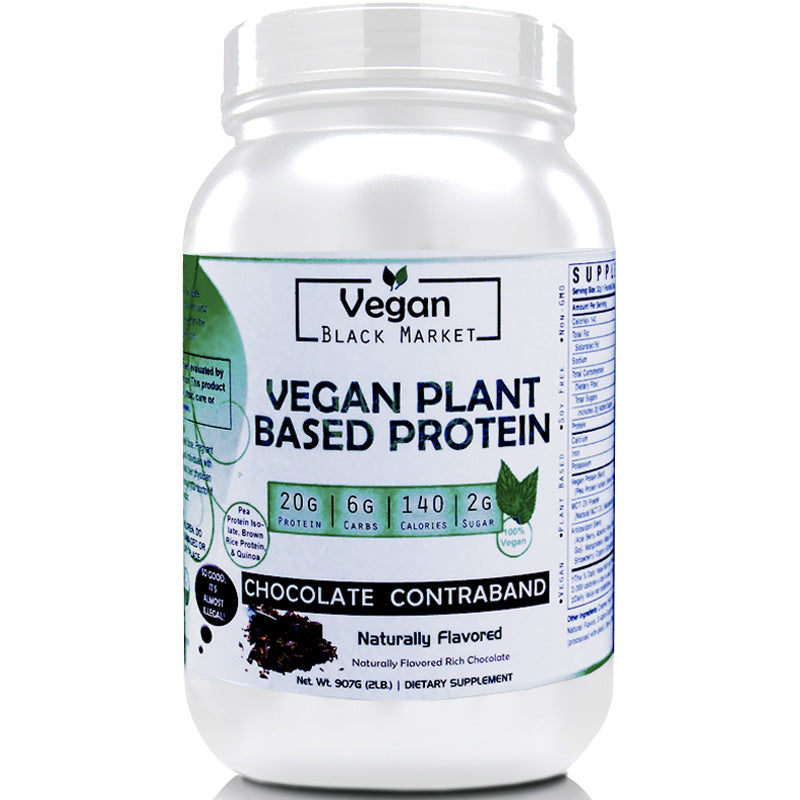 Vegan Black Market Chocolate Contraband Plant Based Protein Powder