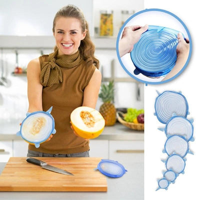 Silicone Mighty Lids Universal - 6 pcs.