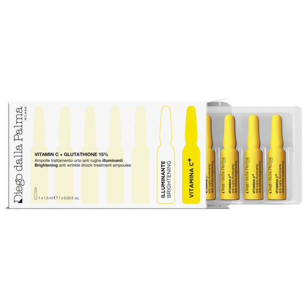 Brightening anti wrinkle shock treatment ampoules