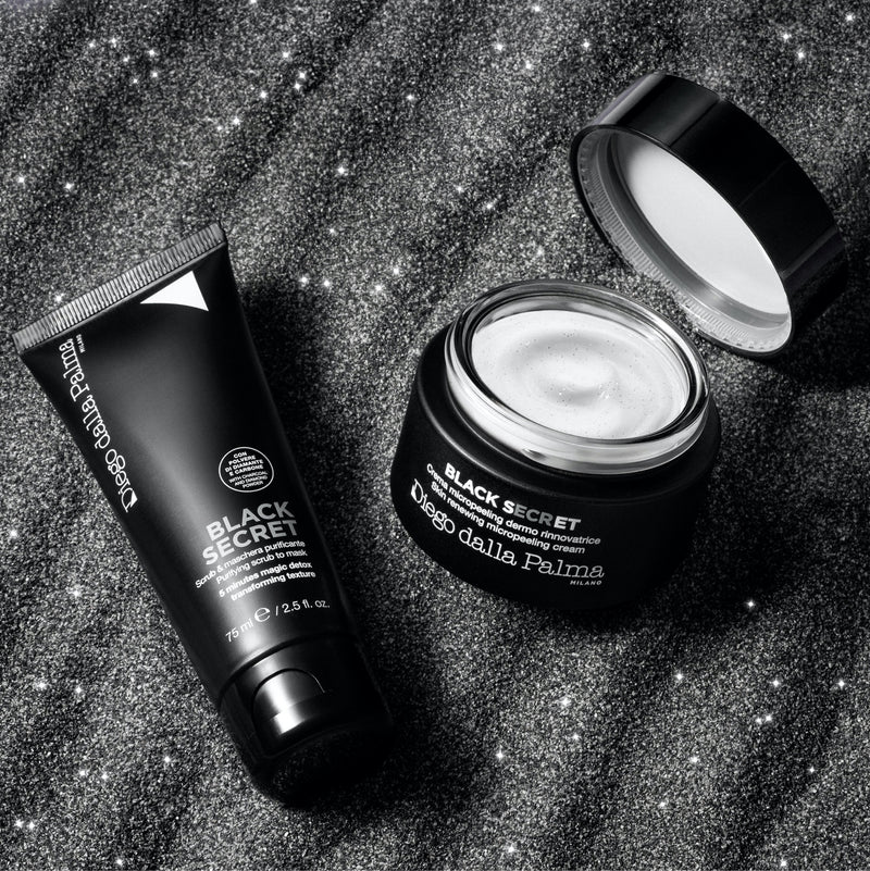 black secret - scrub & maschera purificante - Diego dalla Palma Milano