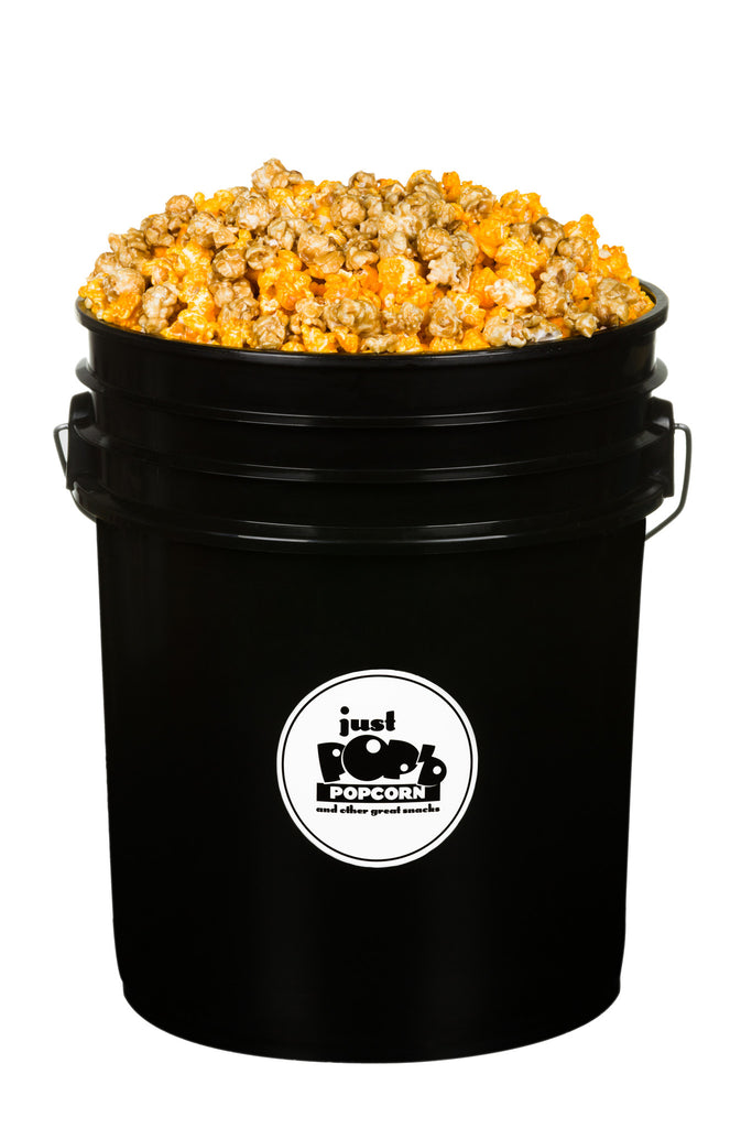 Bucket of Cheese and Caramel Corn