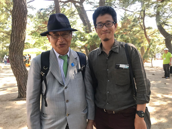 The author with Setouchi Triennale general director Fram Kitagawa (left) in 2019.