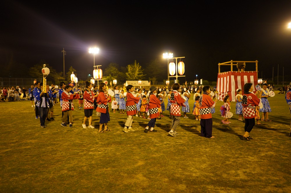 The obon dance at the 2018 Naoshima summer festival.