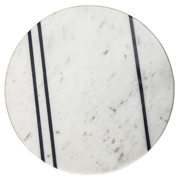 White Marble Cake Stand - Monocrhome