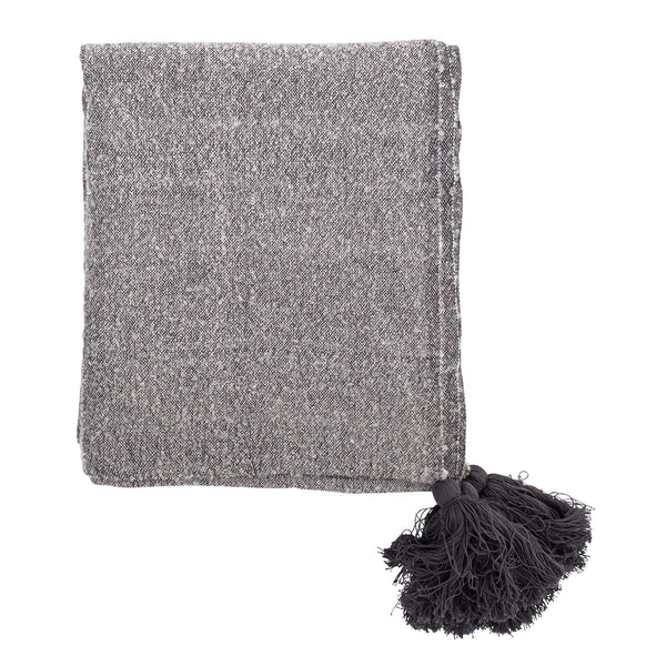Grey Throw Blanket Bloomingville