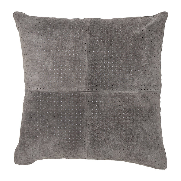 Square Grey Suede Cushion Bloomingville