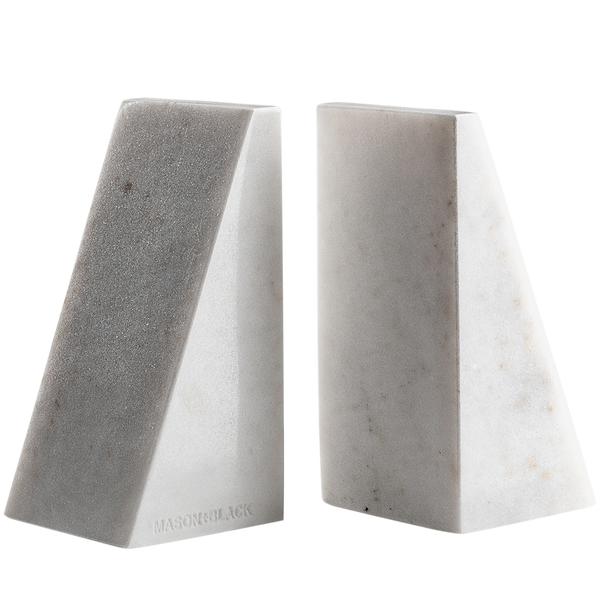Marble Bookends Mason + Black