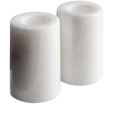 Marble Candle Holders (Small) Mason + Black