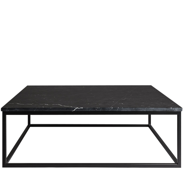 Marble Square Table Mason + Black