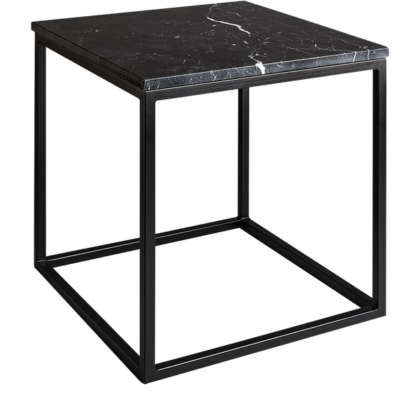Marble Side Table Mason + Black