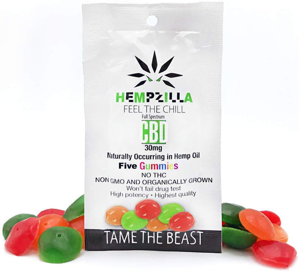 Hempzilla 50mg Gummy Original 5pk