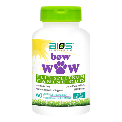 Bios BowWOW CBD for Small Pets 60 Softgels - 300mg (5mg/softgel)