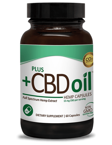 Plus CBD Oil Green Capsules-15mg 60ct