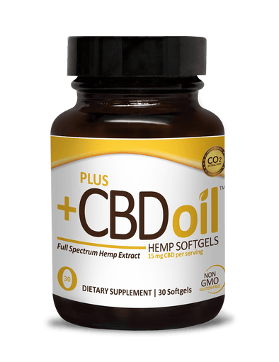 Plus CBD Oil 15mg Gold Softgel 30ct