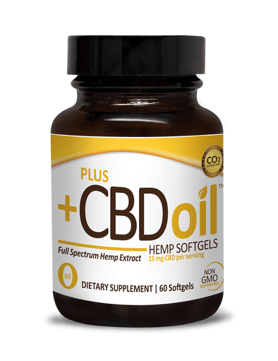 Plus CBD Oil 15mg Gold Softgel 60ct
