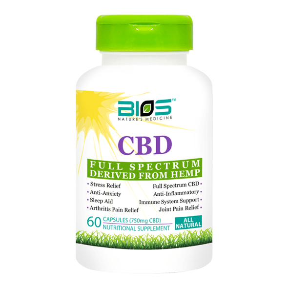 Bios CBD Capsules 60 Softgel Capsules - 750mg