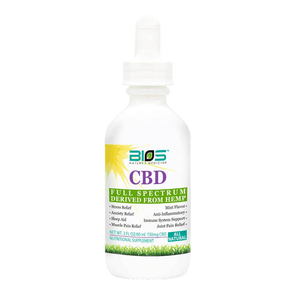 Bios 750mg CBD Tincture - Mint Flavor 2oz