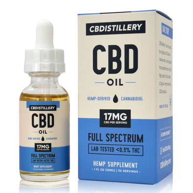 CBDistillery 500mg Full Spectrum Unflavored Tincture