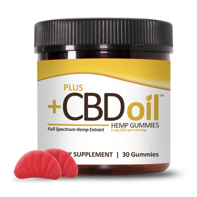 Plus CBD Oil Gummies 5mg 30Ct (150mg Total) - Cherry Mango