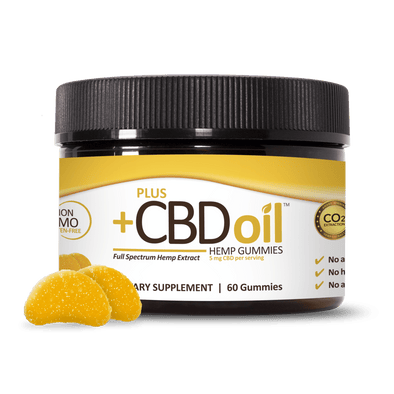 Plus CBD Oil Gummies 5mg 30Ct (150mg Total) - Citrus Punch