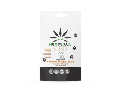 Hempzilla 30mg Dog Treat 6pk