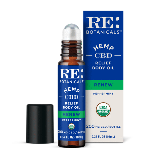 RE Botanicals Relief Body Oil, Peppermint