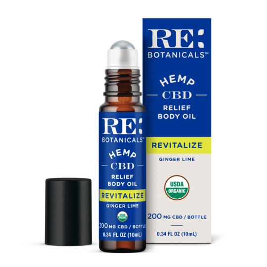 RE Botanicals Relief Body Oil, Ginger Lime