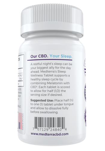 MedTerra Medterra 25mg CBD + Melatonin Tablet 30ct