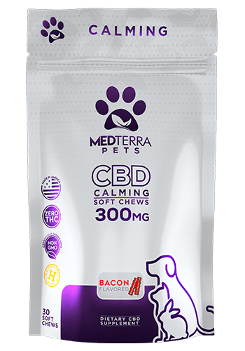 Medterra Medterra Pet Calming Chews Bacon 300mg 30ct