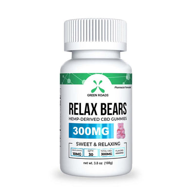 Green Roads 300mg Relax Bears Gummies