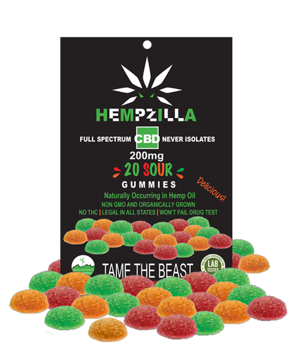 Hempzilla 200mg Gummy Sour 20pk