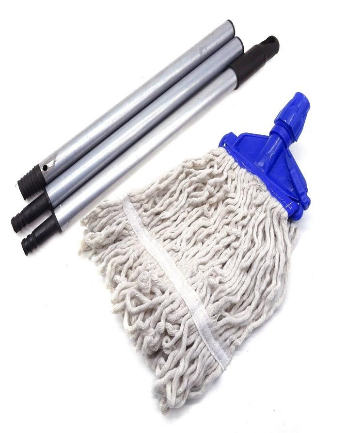 SUPER Bleach Mop Set, Cotton Mop Head & Aluminum Rod