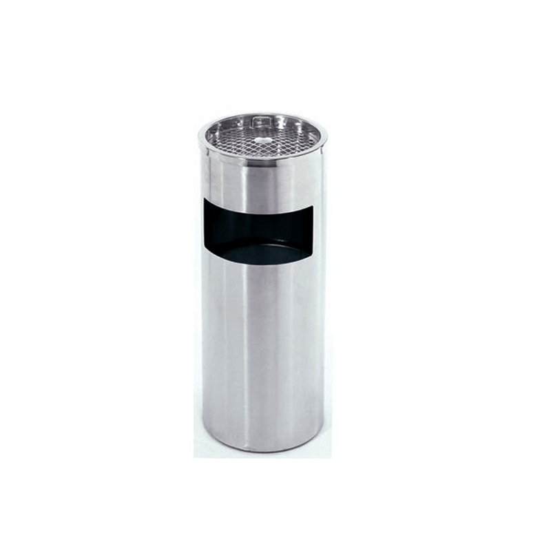 Dust Bin, Stainless Steel, Round, Ash Tray Top, 30 cm Wide