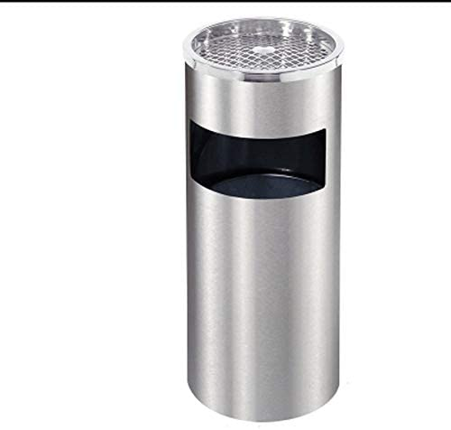 Dust Bin, Stainless Steel, Round, Ash Tray Top, 25 cm Wide