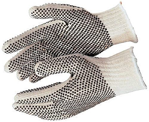 Personal Care, Safety Protection Working Gloves, Cotton, Double-Sided Black PVC Dotted , Reusable