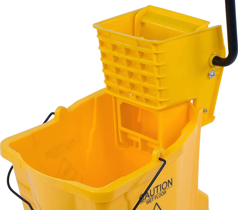Mop Bucket Set, Plastic Bucket and Wringer, DELUXE