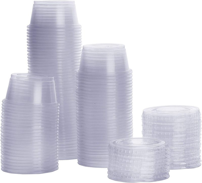 Packaging, Sauce Cup, Round, Disposable with Lid, 50ml