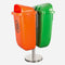 Dust Bin, Plastic, Rectangular, Pole Mounted, 50L