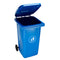 Trash Can, Outdoor, with Wheels and Cover, 120 L
