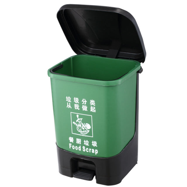 Dust Bin, Plastic, Square , Center Pedal 20L
