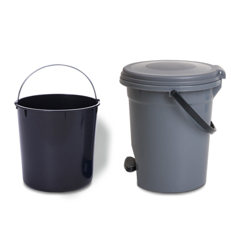 Dust Bin, Plastic Round, Center Pedal with Bucket & Basket, 16 Litre