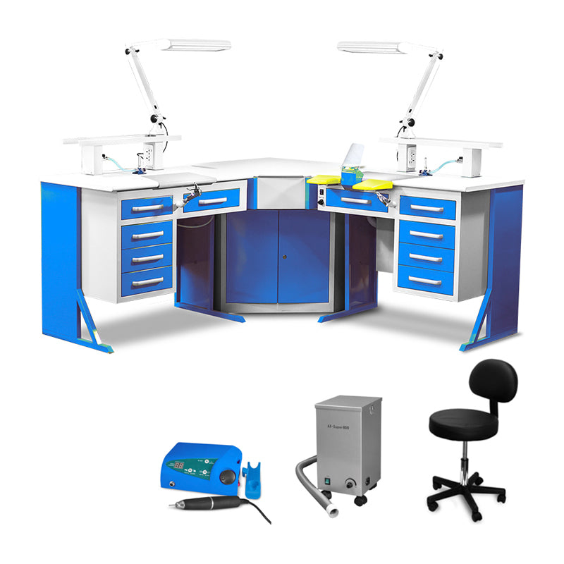 Three Piece Corner Workstation Package