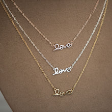 Load image into Gallery viewer, Love Script Necklace