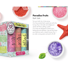 Load image into Gallery viewer, Paradise Fruits Bath Salt Set