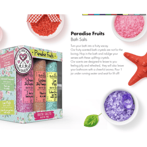 Paradise Fruits Bath Salt Set