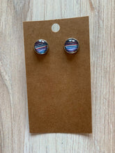 Load image into Gallery viewer, Striped Stud Earrings