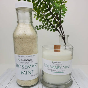 Rosemary + Mint Wood Wick Candles