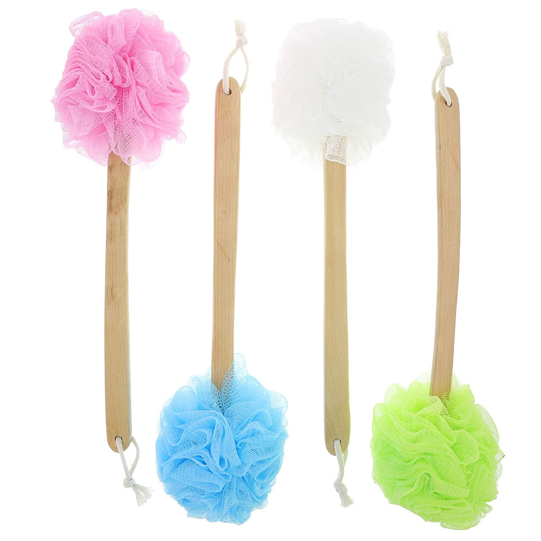 Long Handled Shower Pouf
