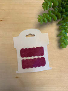 Scalloped Snap Clips